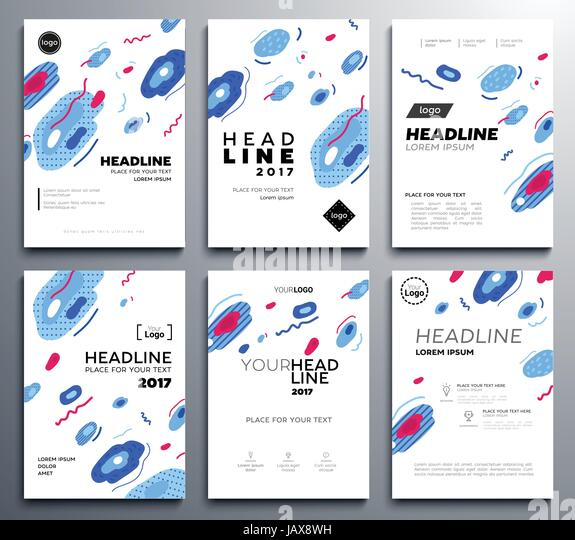 Template brochure design pages stock photos template brochure presentation booklet covers vector template pages set stock image pronofoot35fo Choice Image