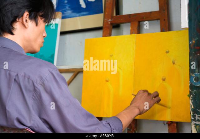 Artist Painting Studio Asia Stock Photos & Artist Painting Studio Asia ...