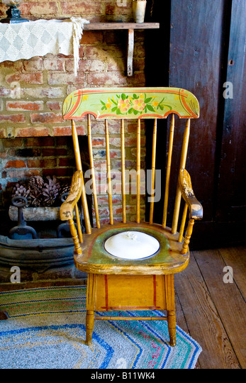 Antique Toilet Chair   Stock Image