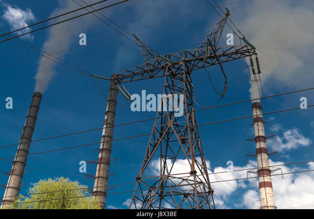 Power transmission system stock photos power for Distribution substation