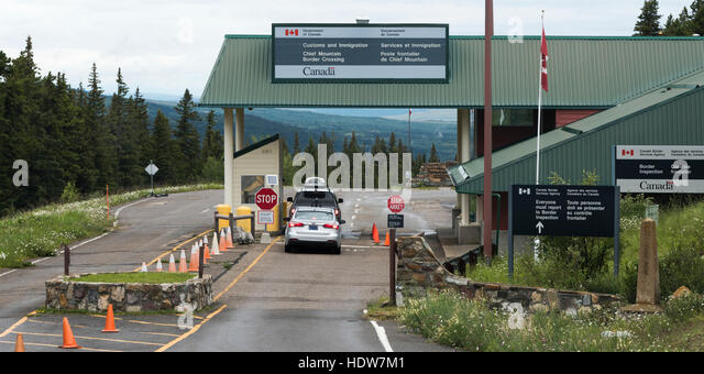 Alberta Border Stock Photos Alberta Border Stock Images Alamy - Alberta us border crossings map