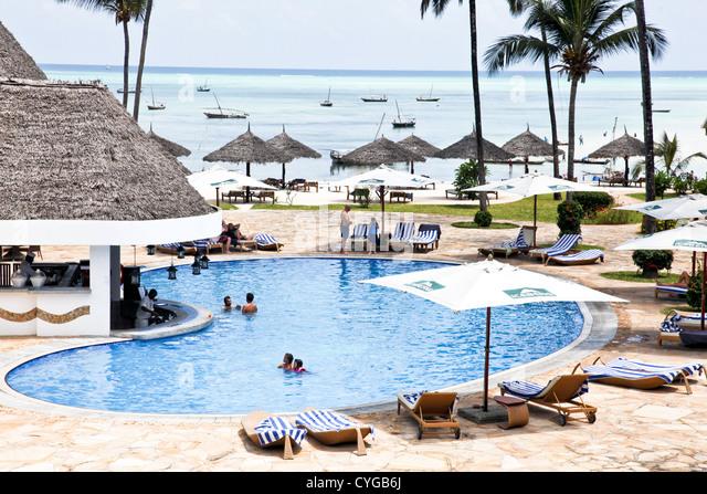 Beach resort zanzibar island tanzania stock photos beach for Small luxury beach resorts