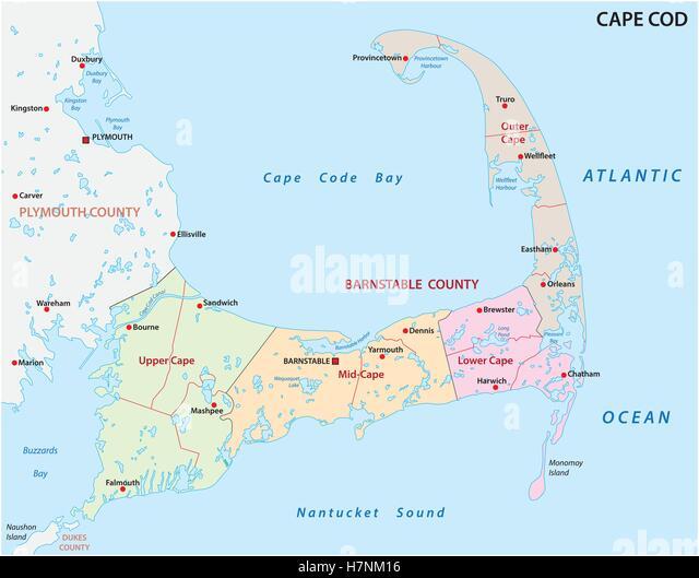 Map Plymouth Bay Massachusetts Stock Photos Map Plymouth Bay - Massachusetts political map