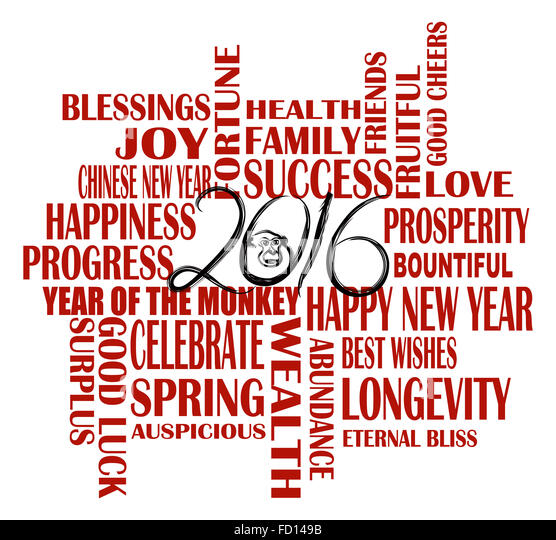 Chinese new year sayings cut out stock images pictures alamy 2016 chinese lunar new year english greetings text wishing health good fortune prosperity happiness in the m4hsunfo