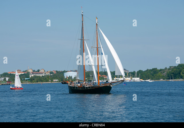Two masted sailboat stock photos two masted sailboat for 68 garden design gaff rigged schooner