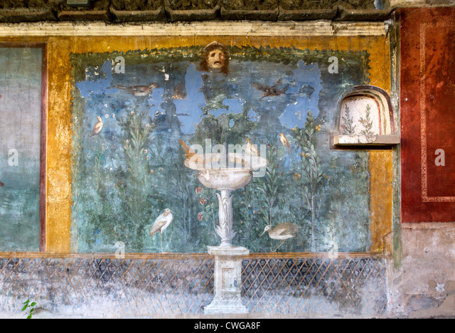 Ancient roman fountain stock photos ancient roman for Ancient roman mural
