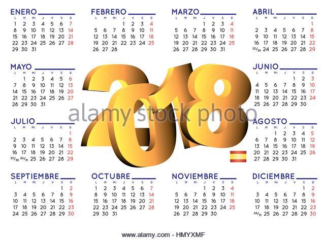 Calendario 2018 Stock Photos & Calendario 2018 Stock Images - Alamy