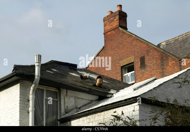 Snow Covered Roof Fha Urban Living Roofs Stock Photos