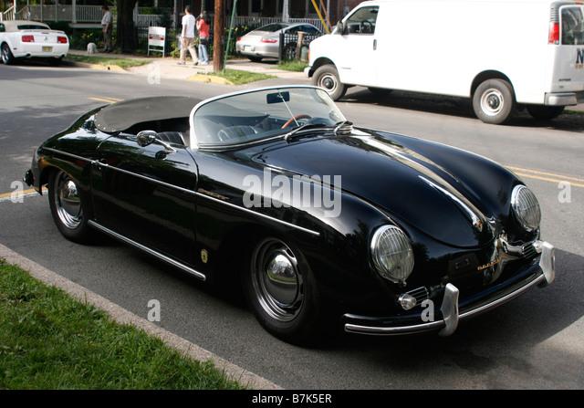 Classic Porsche Speedster Black Convertible