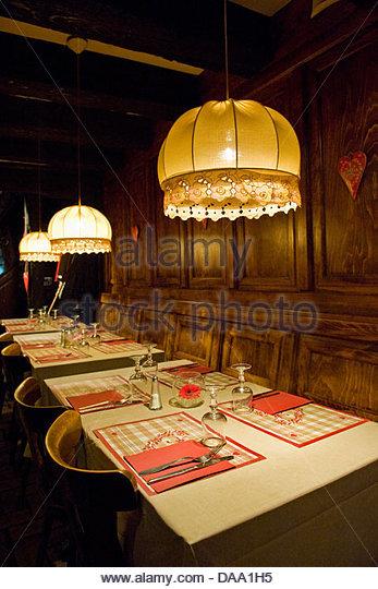 France alsace colmar restaurants stock photos france for Restaurant la maison rouge colmar