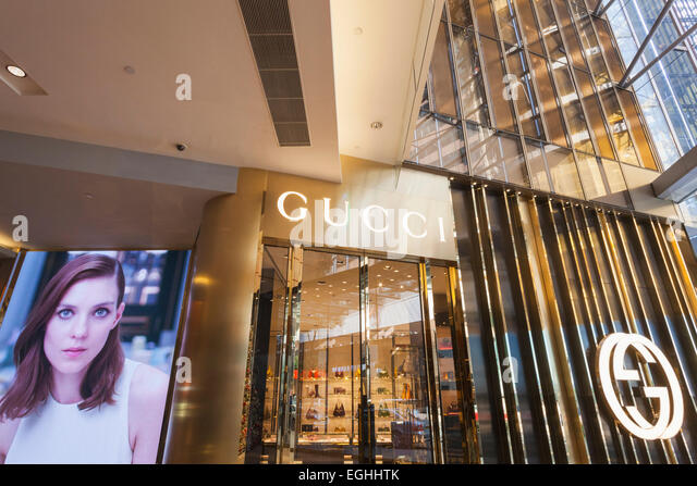 Hong Kong Shop Brands Stock Photos