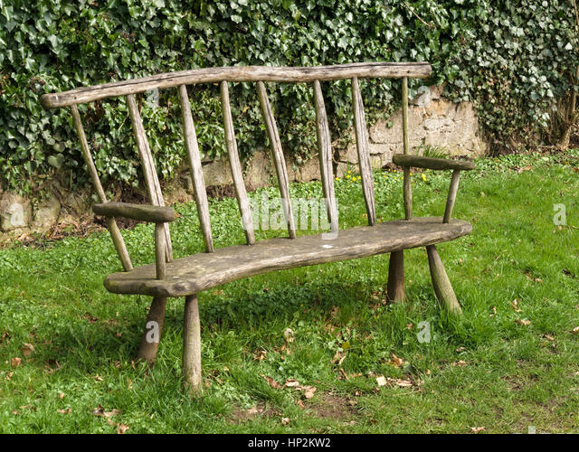 Wooden Carved Furniture Stock Photos amp Wooden Carved  : rustic handmade wooden park bench seat ticknall derbyshire england hp2kw2 from www.alamy.com size 640 x 500 jpeg 123kB