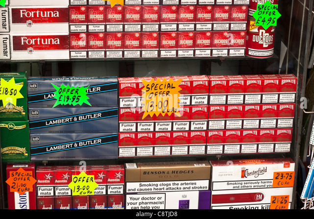 Colourful cigarettes Gauloises to buy