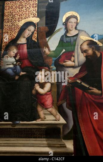 Madonna and child enthroned with saints raphael descriptive essay
