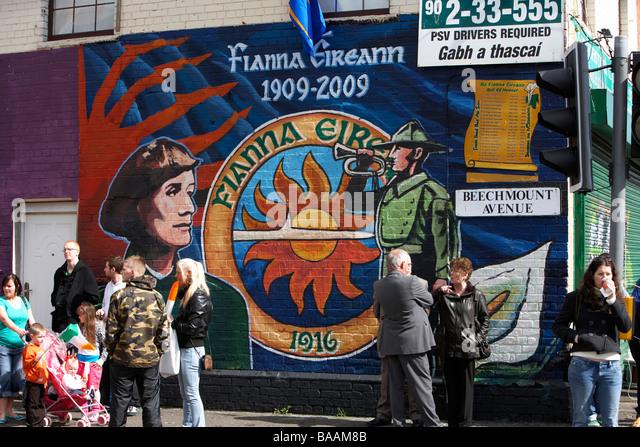 Mural belfast ira stock photos mural belfast ira stock for Easter rising mural