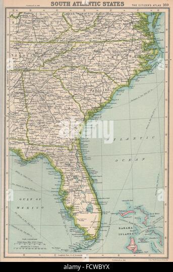Map North Carolina Usa Stock Photos Map North Carolina Usa Stock