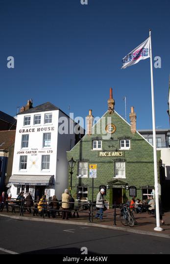 Pubs And Bars Along The Quay Poole Dorset England Uk