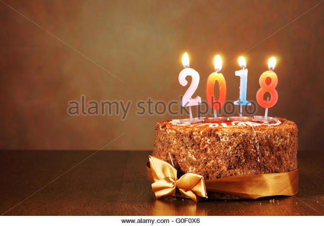 Cake Designs For New Year 2018 : Year 2018 Stock Photos & Year 2018 Stock Images - Alamy