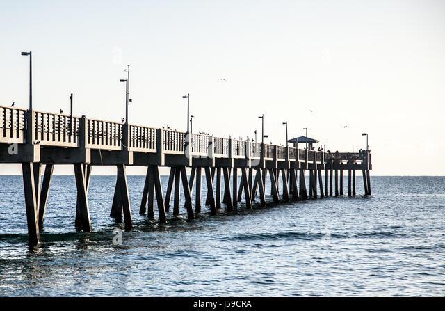 Miami beach pier stock photos miami beach pier stock for Miami fishing piers