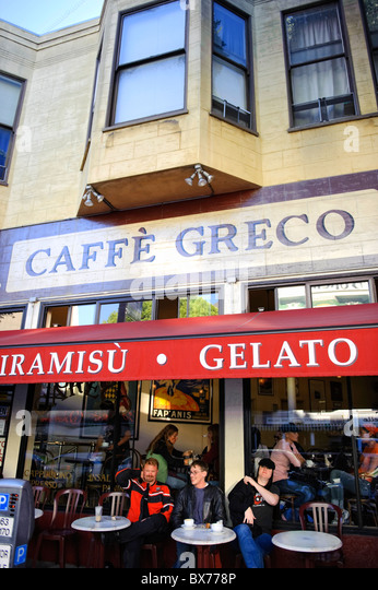 Usa California San Francisco North Beach Little Italy Cafes