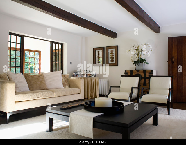 Living Rooms Cream Sofas In Stock Photos Living Rooms Cream