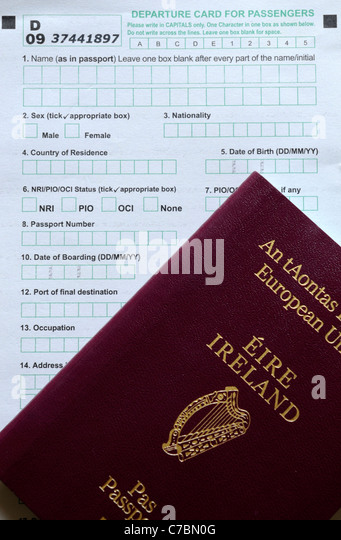 Irish Passport Application Form Stock Photos Irish Passport