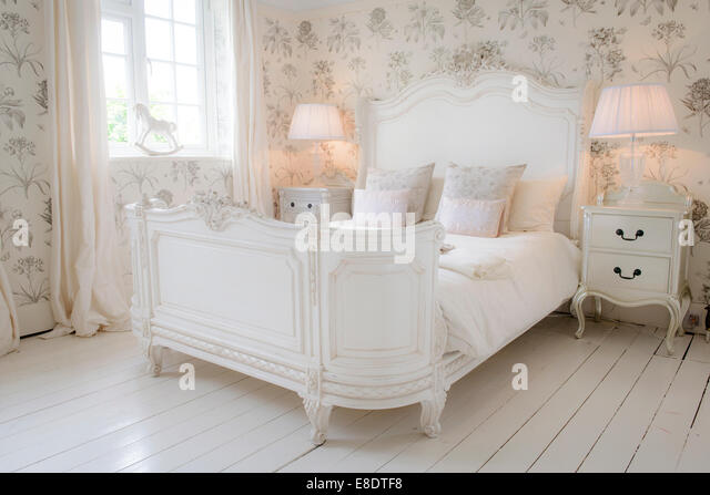 An Example Bedroom By The French Bedroom Company Based In Sussex, UK.    Stock