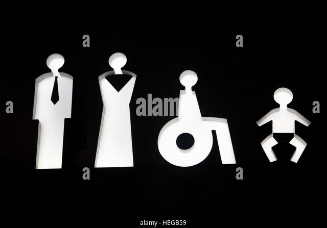 Bathroom Signs Holding Hands restroom signs stock photos & restroom signs stock images - alamy