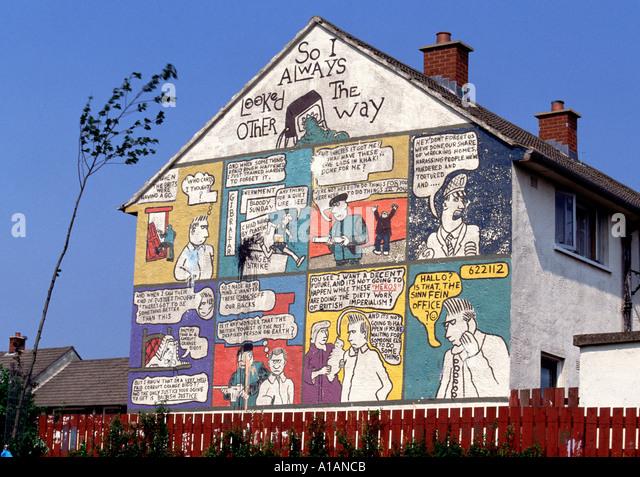 Loyalist mural belfast northern ireland stock photos for Mural northern ireland