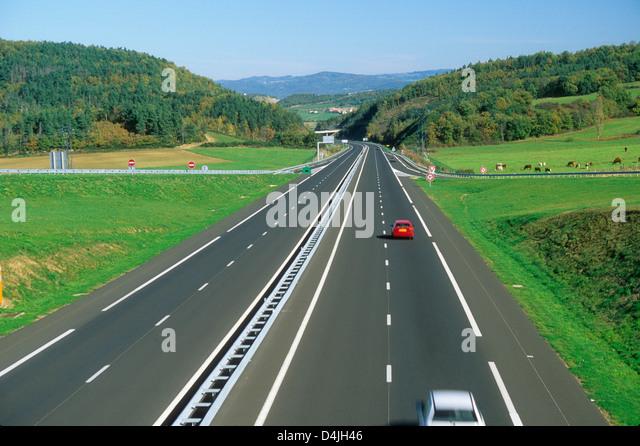 Autoroute Motorway A75 Auvergne France Europe