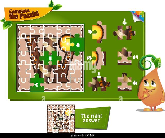 visual game for children and adults task complete the puzzle letters of the alphabet