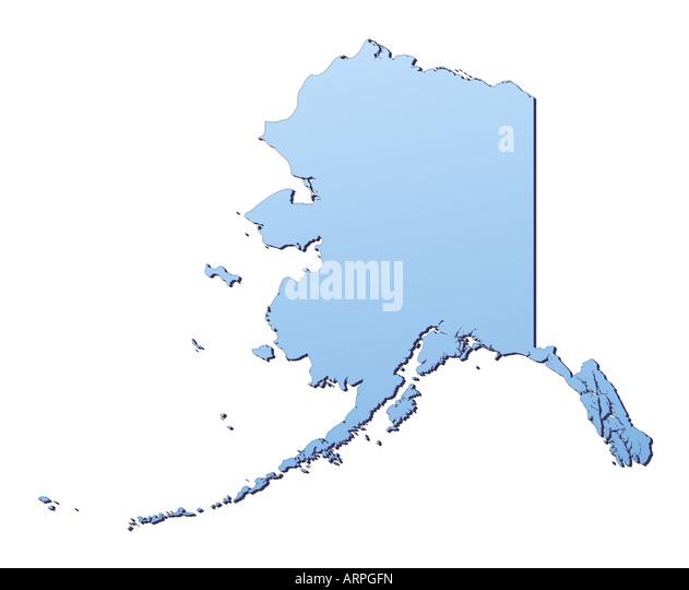 Alaska Map Stock Photos Alaska Map Stock Images Alamy - Alaska highlighted on us map