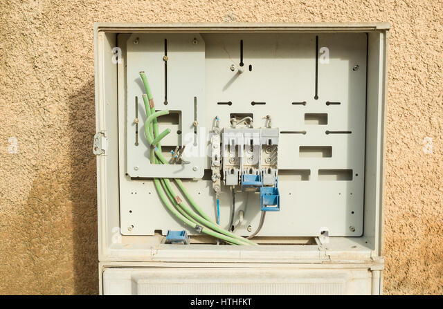 conduit box stock photos conduit box stock images alamy fuse box waiting to be completely fitted stock image