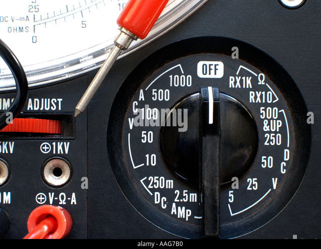 Multimeter Dial Symbols : Ohmmeter stock photos images alamy