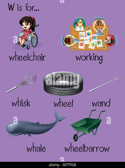 5 letter words with w phonetics stock photos amp phonetics stock images alamy 23129 | many words begin with letter w illustration gftfg8