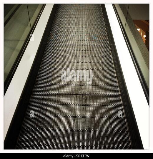 Great Moving Staircase   Escalator   Stock Image