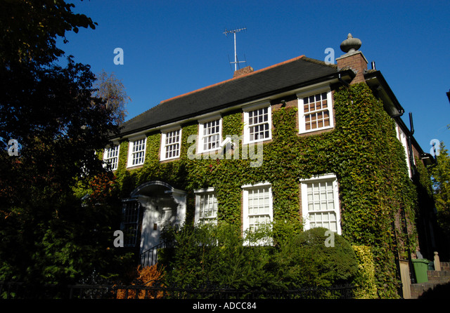 Large Expensive Detached House In Holland Park London England UK