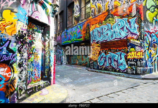 Melbourne graffiti stock photos melbourne graffiti stock for Australian mural