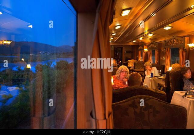 Asturias spain people restaurant stock photos asturias for Luxury train trips europe