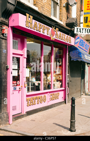 Tattooist shop stock photos tattooist shop stock images for Tattoo shops in london
