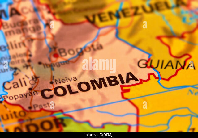 Colombia Map Stock Photos  Colombia Map Stock Images  Alamy
