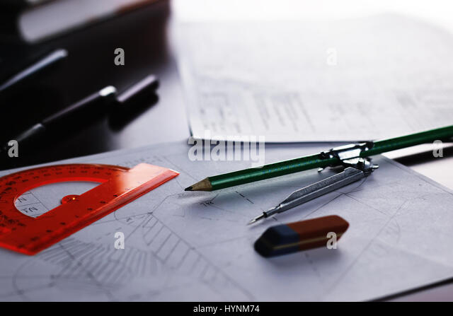 Architectural Drawing Board architectural drawing board stock photos & architectural drawing