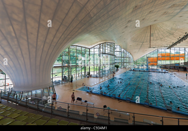 Interior Of The Munich Olympic Swimming Pool Park Gern Bayern