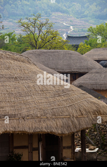 Korean folk village stock photos korean folk village for Fortress homes