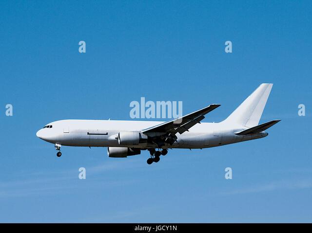 Blank White Airplane - Stock Image
