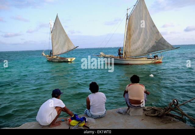 Ambergris belize fishing stock photos ambergris belize for Fishing san pedro belize