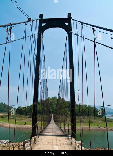 Wire Rope Suspension Bridge Stock Photos & Wire Rope Suspension ...