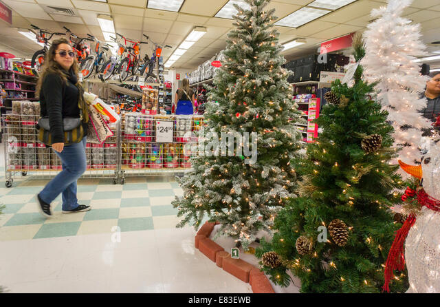 seasonal christmas display in a kmart store in new york stock image - Kmart Christmas