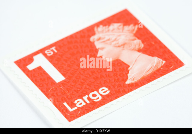 1st class large letter postage stamp for mail new 2013 colour uk stock