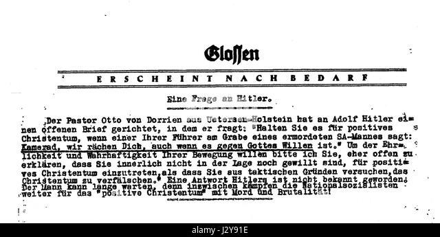 Brief Von Otto : Dorrien stock photos images alamy